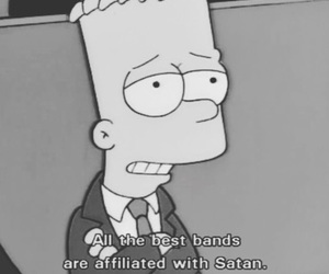the simpsons, satan, and bart simpson image