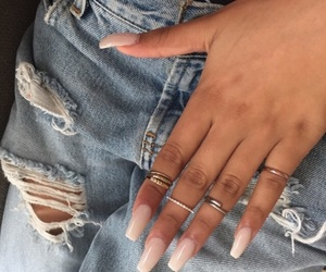 nails, rings, and jeans image