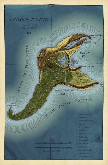 fictional, Island, and jules verne image