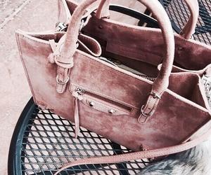 bag, pink, and rose gold image