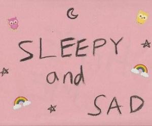 pink, sad, and sleepy image