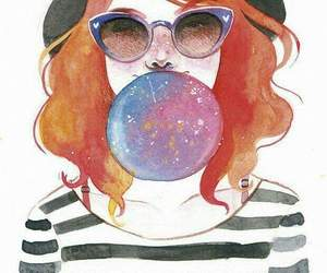 chicle, gafas, and glasses image