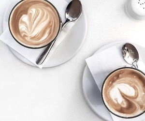 coffee, flatlay, and cafeine image