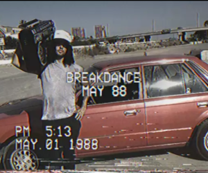 80s, aesthetics, and boom box image