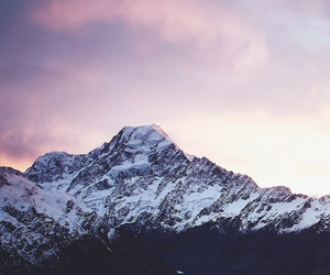 background, mountain, and snow image