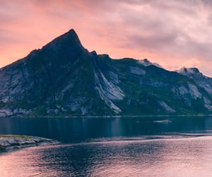 background, mountain, and pink image