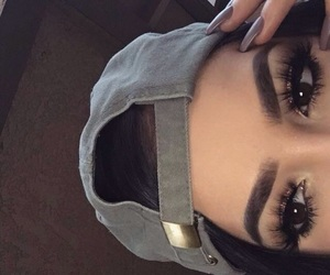 brown, coloured, and makeup image