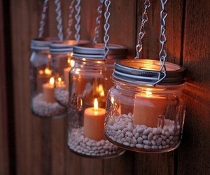 candles, tree, and fire image