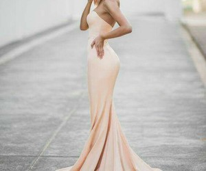 cream, dress, and fashionable image