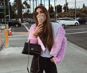 girl, fashion, and ice cream image
