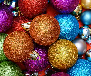aesthetic, baubles, and christmas image