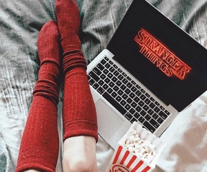 stranger things, red, and socks image