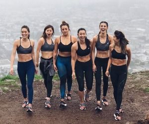 fitness, friendship, and girls image