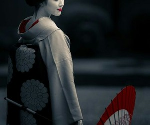 black, geisha, and japan image