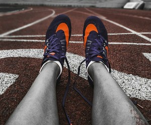 track and field and nike spikes image