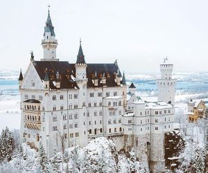 winter, castle, and christmas image