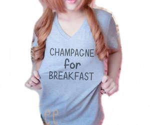 breakfast, grey shirt, and funny t shirt image