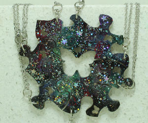bff, friendship pendants, and wedding puzzle image
