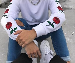 boy, rose, and fashion image