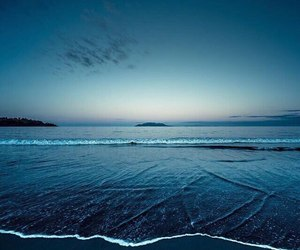 blue, sea, and beach image