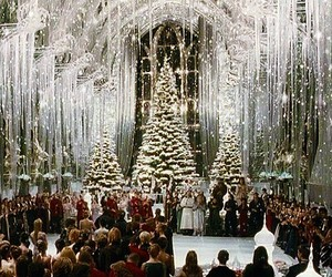harry potter, christmas, and winter image