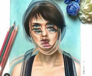 beautiful, colours, and drawing image
