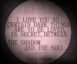 love, quotes, and dark image
