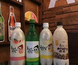 aesthetic, makgeolli, and korean drinks image