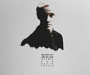 harry potter, draco malfoy, and hogwarts image
