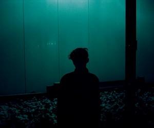 grunge, boy, and blue image