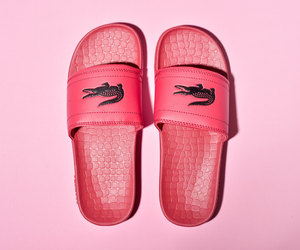 lacoste, pink, and shoes image