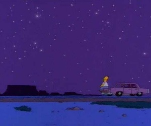 homer, stars, and simpsons image