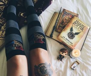 bed, candle, and socks image