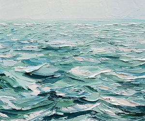 ocean, art, and paint image