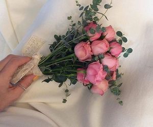 aesthetic, soft, and flowers image