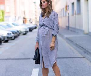 dress, pregnant, and street image
