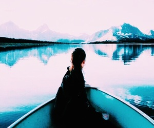 blue, boat, and calm image
