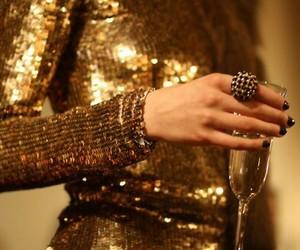 fashion, gold, and dress image