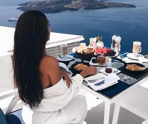 girl and breakfast image