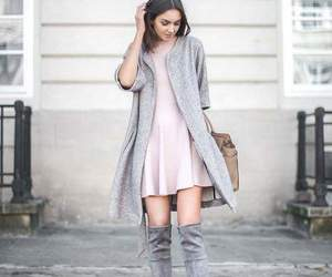 casual, gray, and outfit image