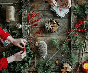 branches, candle, and christmas image