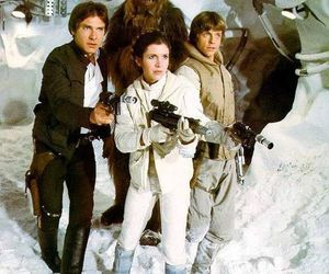 star wars, han solo, and chewbacca image