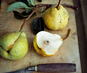 pear, food, and fruit image