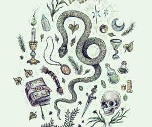 slytherin, harry potter, and art image