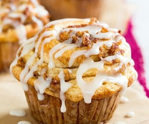 apple, breakfast, and muffin image