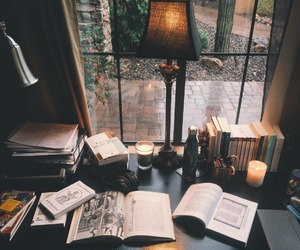 book, study, and candle image