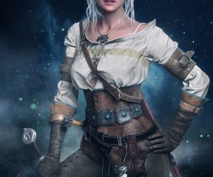 wallpaper, ciri, and the witcher image