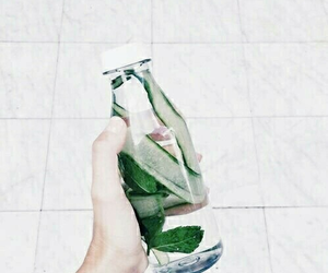 green, white, and water image