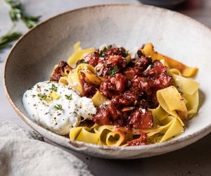 beef, egg, and pasta image