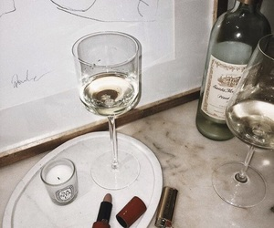 drink, wine, and vintage image